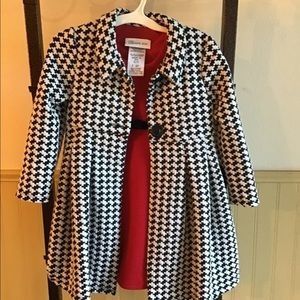 Girls 3T Dress w/ Houndstooth Jacket Set